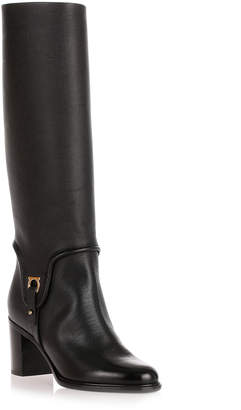 Salvatore Ferragamo Flavius black leather knee-boot