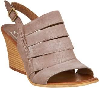 Miz Mooz Leather Slingback Wedge Sandals - Kenmare