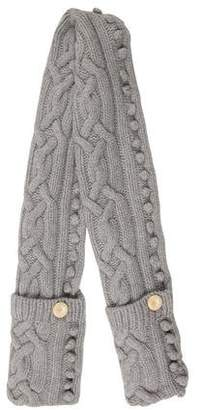 John Smedley Wool Cable Knit Scarf
