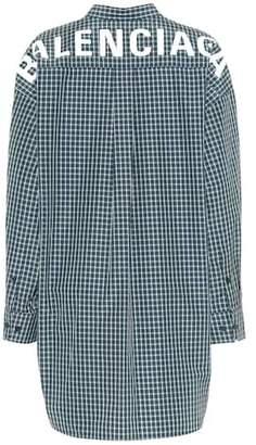 Balenciaga Oversized checked shirt