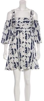 Alexis Floral Jacquard Cutout Dress