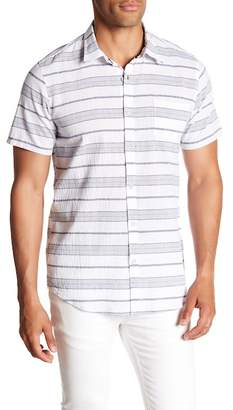 Micros Puckered Short Sleeve Regular Fit Shirt