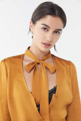 Urban Outfitters Florence Tie-Neck Blouse