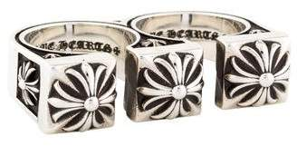 Chrome Hearts Double Brass Knuckle Ring