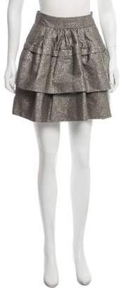 Diane von Furstenberg Bolo Metallic Mini Skirt