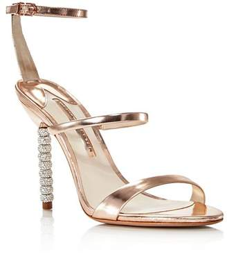 Sophia Webster Women's Rosalind Crystal Metallic Leather High-Heel Sandals