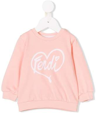 Fendi logo print sweatshirt