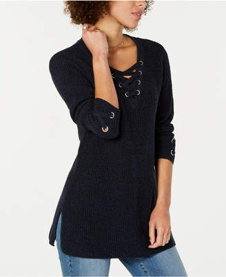 Style&Co. Style & Co Petite Lace Up Tunic