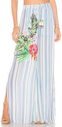 Rococo Sand Stripe Blossom Pants