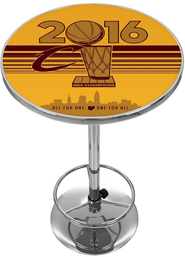 Trademark Global NBA Cleveland Caviliers Chrome Pub/Bar Table