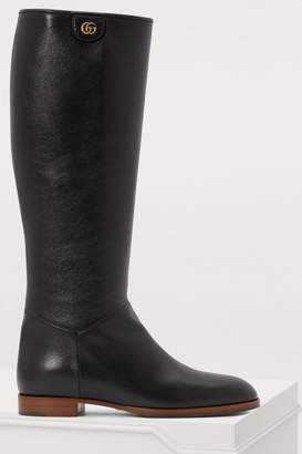 Gucci Rebelle leather boots