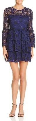 AQUA Two Toned Lace Bell Sleeve Dress $118 thestylecure.com