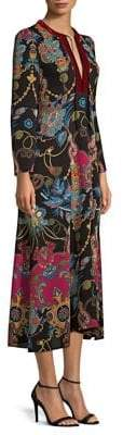 Etro Printed Tassel Kaftan Midi Dress