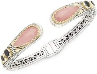Konstantino Women's Guava Agate & Black Onyx Bracelet