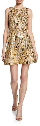 Alice + Olivia Lindsey Embellished Structured Short Dress