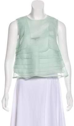 Tibi Silk Sleeveless Top