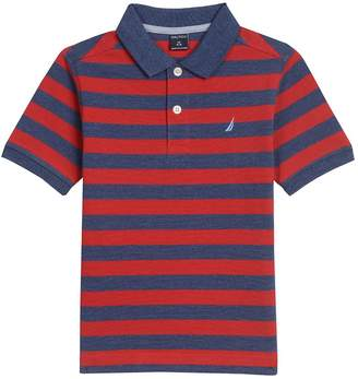Nautica Big Boys Short Sleeve Striped Polo