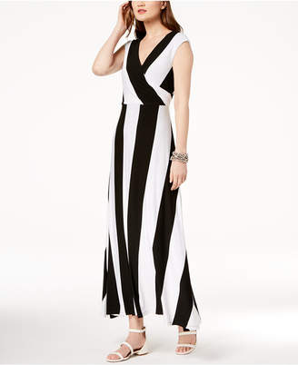 INC International Concepts I.n.c. Striped Cap-Sleeve Maxi Dress, Created for Macy's