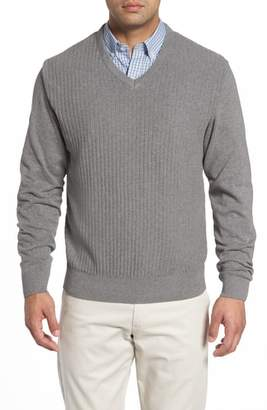 Cutter & Buck Bryant Rib-Knit V-Neck Sweater