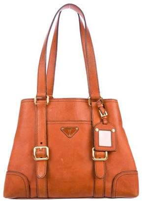 1208b8e216 Pre-Owned at TheRealReal · Prada Leather Buckle Tote