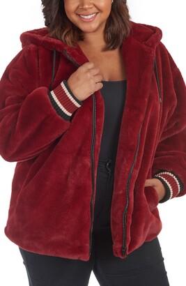 Rachel Roy Faux Fur Hooded Jacket