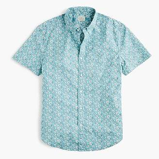 J.Crew Short-sleeve Secret Wash shirt in vintage floral print