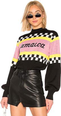 MSGM Jamaica Racing Sweater