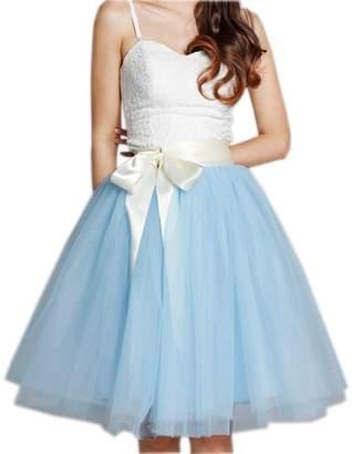 Mainsa Appare Tue Skirt 7ayers Eastic Bet Midi Tutu Skirts (, Back)