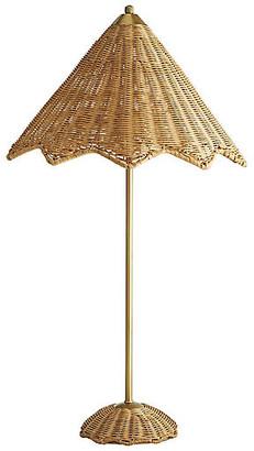 Parasol Table Lamp - Natural/Antiqued Brass - Celerie Kemble