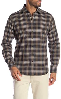 Toscano Long Sleeve Checkered Sport Shirt