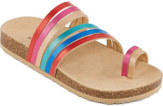 fa53bbf4ce53 Arizona Little Kid Big Kid Girls Neapolitan Flat Sandals