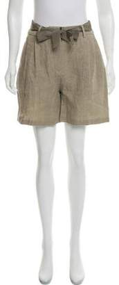 Lamberto Losani Linen High-Rise Mini Shorts w/ Tags