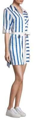 Milly Striped Shirt Dress