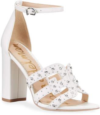 0363cffbfbd0 Sam Edelman White Ankle Strap Women s Sandals - ShopStyle