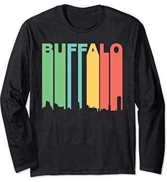 Buffalo David Bitton Retro Style New York Skyline Long Sleeve T-Shirt