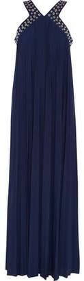 MICHAEL Michael Kors Eyelet-Embellished Stretch-Knit Maxi Dress