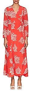 Leone WE ARE Women's Coral-Print Silk Maxi Wrap Dress - Red