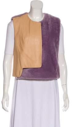 3.1 Phillip Lim Shearling Two-Tone Vest