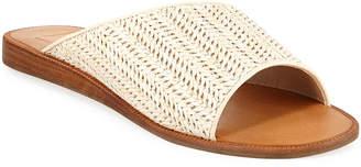 Dolce Vita Prima Asymmetric Woven Slide Sandals
