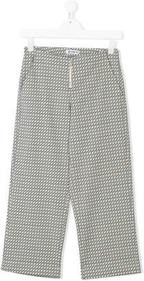 Dondup Kids TEEN embroidered fitted trousers
