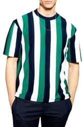 Topman Stripe Short Sleeve Sweatshirt