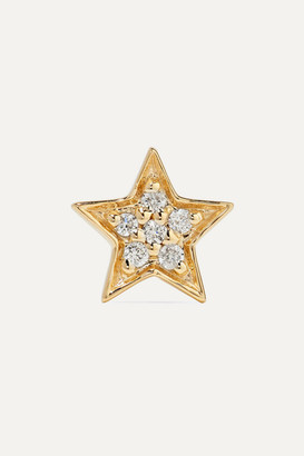 Andrea Fohrman Mini Star 14-karat Gold Diamond Earring