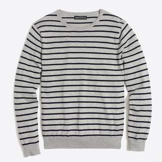 J.Crew Factory Cotton jersey crewneck sweater in stripe