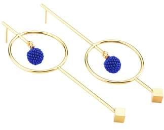 Mishky Circle & Bead Statement Earrings