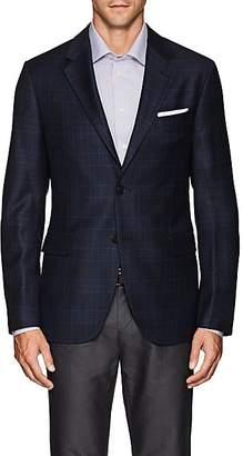 Barneys New York Men's Traveler Plaid Wool-Silk Sportcoat - Navy