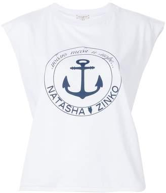 Natasha Zinko logo patch T-shirt