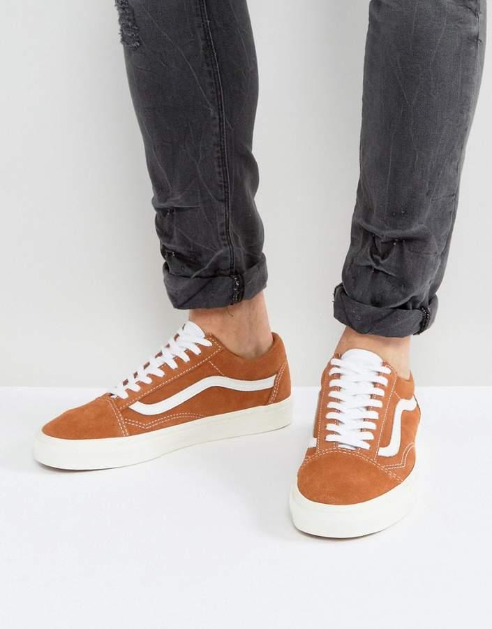 Vans Old Skool Suede Sneakers In Tan VA38G1OI4