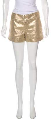 Alice + Olivia Metallic Mini Shorts