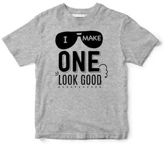 "Sprinkles And Jam ""I Make One Look Good"" Boys 1st Birthday Boy Shirt Slim Fit Birthday Tshirt"