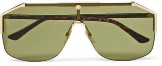 Gucci Endura Oversized Aviator-Style Gold-Tone And Tortoiseshell Acetate Sunglasses
